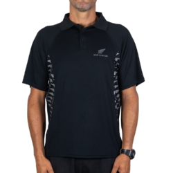 APL229 Active Polo Fern Print front