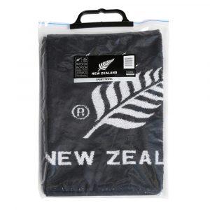 Sport Towel  with New Zealand silver fern logo Packaged