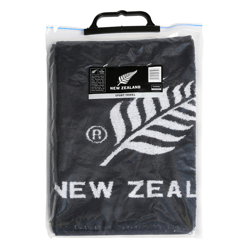 New Zeland Silver Fern Logo Packaged Sports Towel
