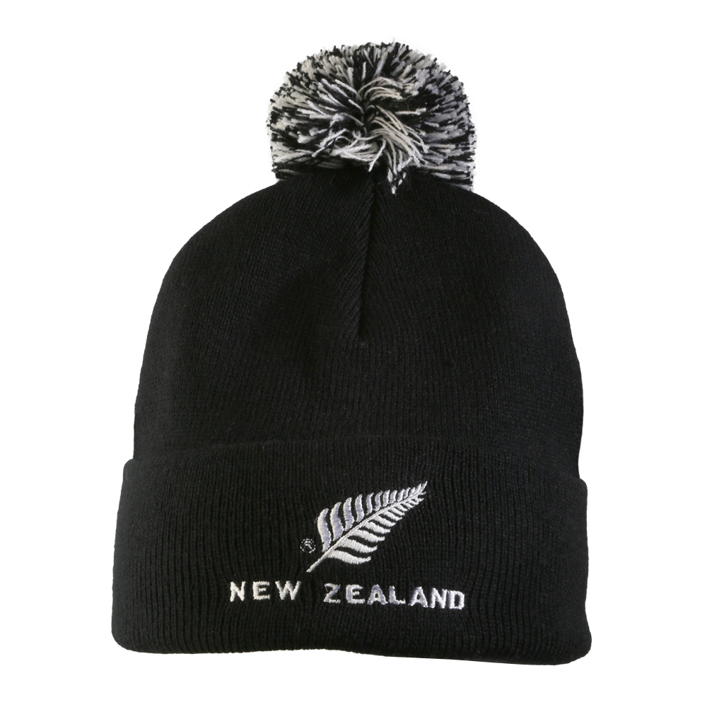 Fashionable roll up beanie with Pom Pom