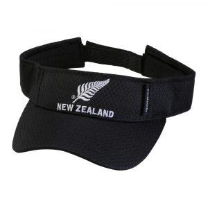Black Visor with New Zealand silver fern logo