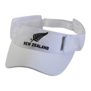 White Visor with New Zealand silver fern logo