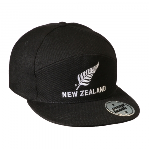 Flat Peak Cap with New Zealand silver fern logo