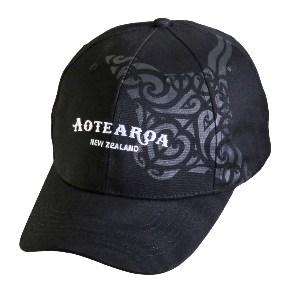 Baseball style cap with Aotearoa Stingray pattern