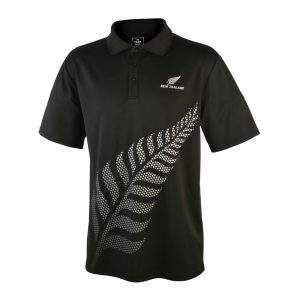 Active Polo with New Zealand silver fern logo