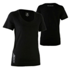 Ladies Tee with New Zealand silver fern blend logo