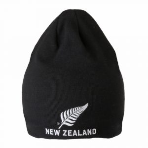 Skull Beanie with New Zealand silver fern logo