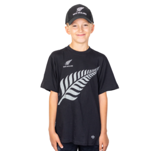 Kids Silver Fern Cap and T Shirt Combo