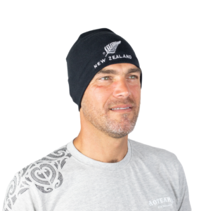 Skull Beanie with New Zealand silver fern logo